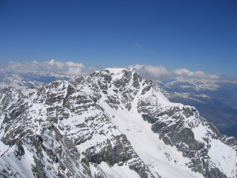 pohľad na Ortler z vrcholu Konigspitze